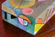 Upload cube sculpture