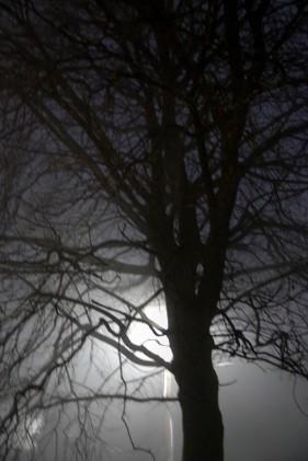 like lightening at night